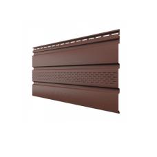 Софит, частично перфорированный, коричневый