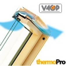 Мансардные окна FPP-V U3 preSelect® LUX среднеповоротное (до 180°) и подвесное (до 35°) открывание
