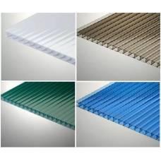Сотовый цветной  поликарбонат (Эконом) 6 мм лист 6м.х2,1м(12,6 м2)
