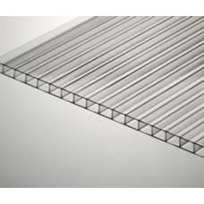 Сотовый прозрачный поликарбонат  4 мм лист 6м.х2,1м(12,6 м2)