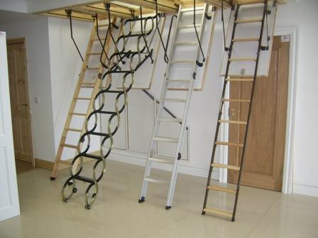 виды чердачных лестниц Факро