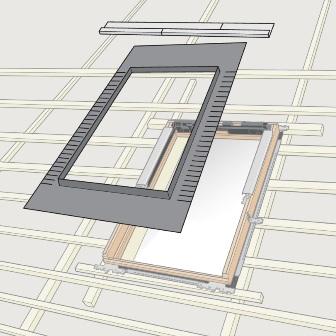 схема расположения мансардного окна Факро