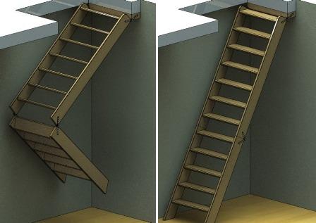 конструкция складной лестницы
