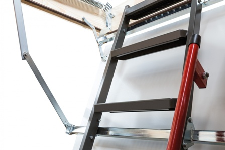 Металлическая чердачная лестница – механизм работы