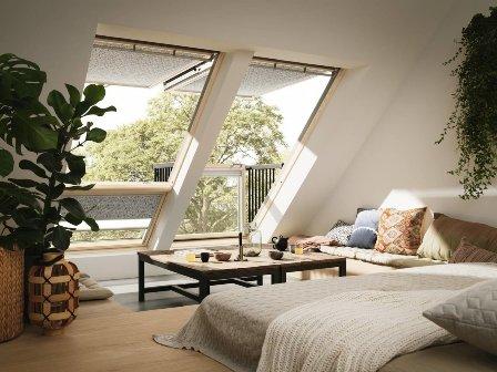 Мансардные окна в интерьере