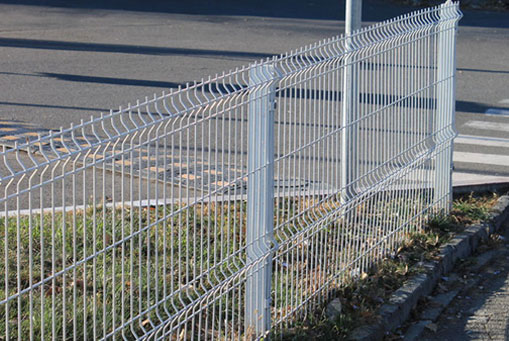 Оцинкованный 3Д забор. Алушта, ограждение территории предприятия