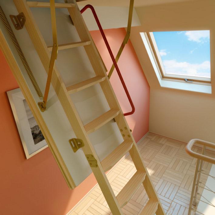 Широкий ассортимент чердачных лестниц по доступным ценам в Севастополе предлагает «Завод кровельных материалов»