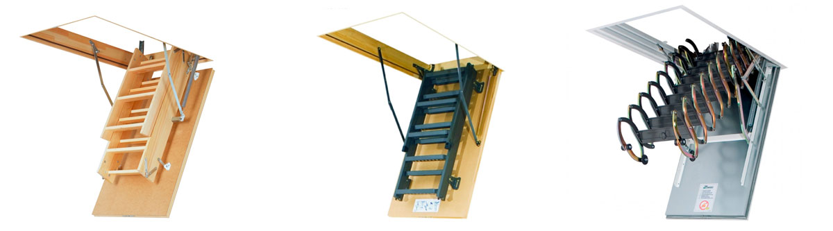 Недорогие и качественные чердачные лестницы различных конструкций в Алуште предлагает купить компания «Завод кровельных материалов»